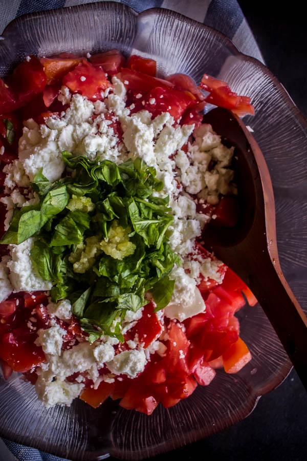 pasta tomatoes feta basil 3