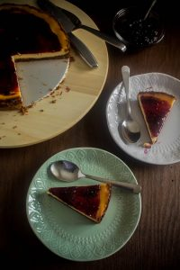 lemon curd baked cheesecake 1