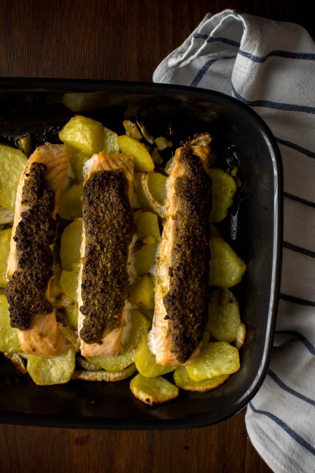 salmon potatoes fennel tray 12