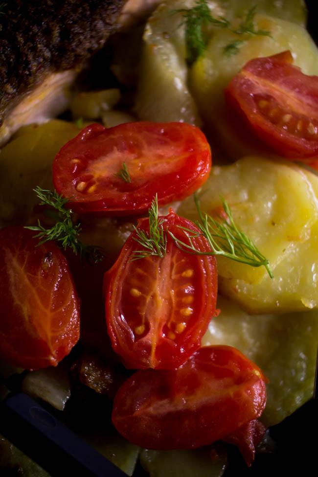 salmon potatoes fennel tray 4