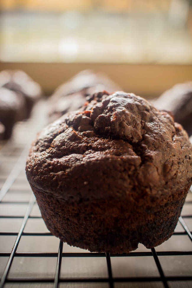 banana chocolate yoghurt muffins 4