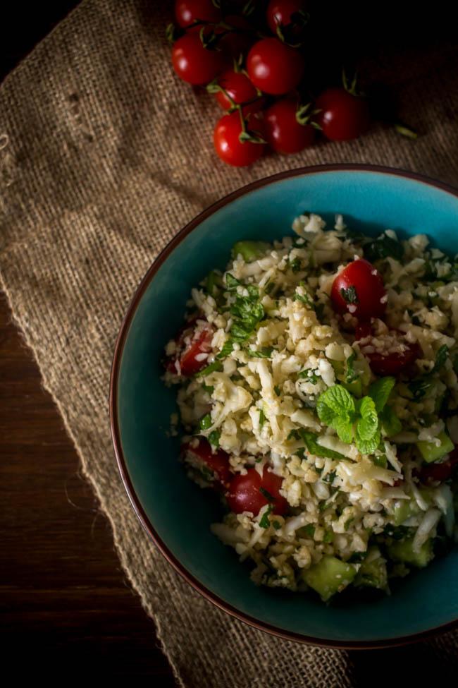 cauliflower rice tabouleh 2