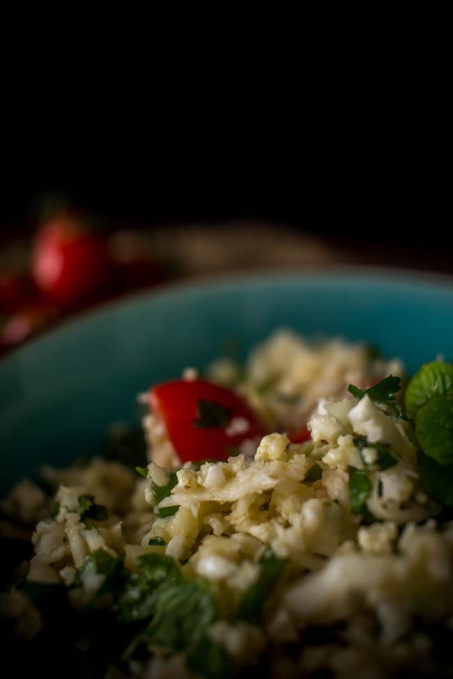 cauliflower rice tabouleh 3