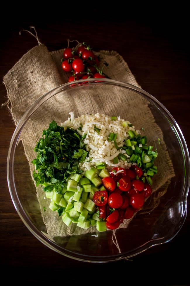 cauliflower rice tabouleh 5