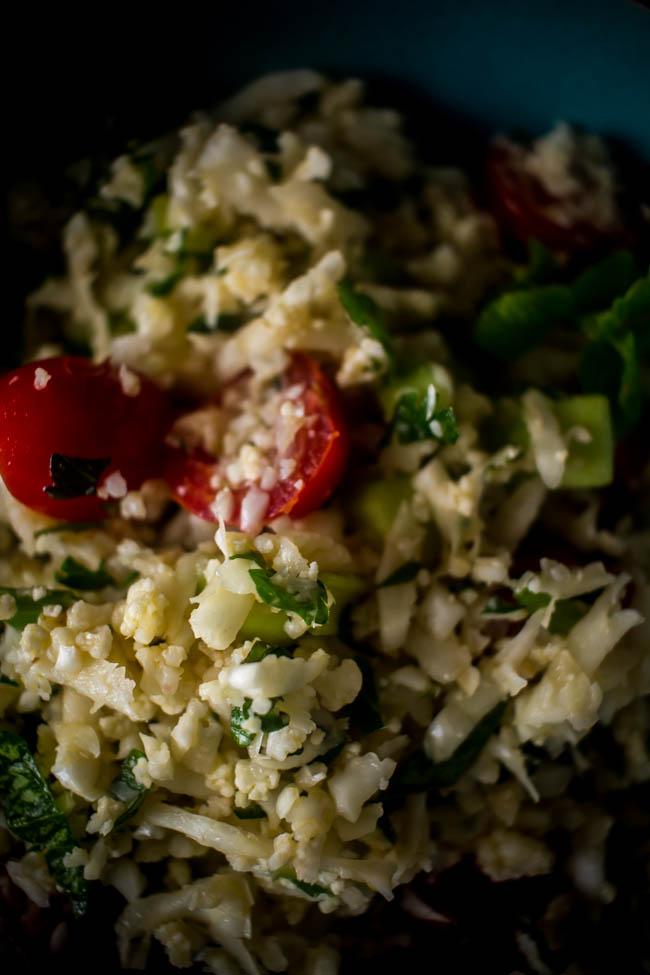 cauliflower rice tabouleh 6