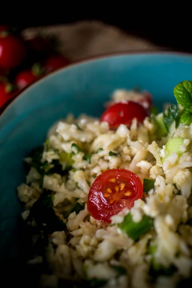 cauliflower rice tabouleh 7