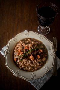 red wine chorizo risotto 1