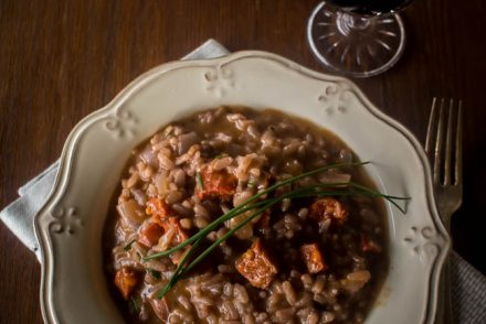 red wine chorizo risotto 1