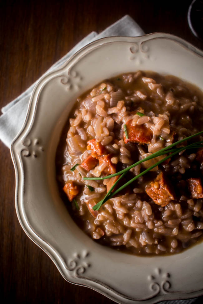 red wine chorizo risotto 2