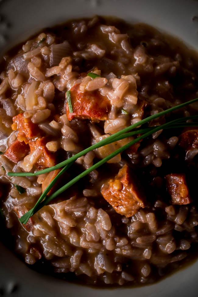 red wine chorizo risotto 3