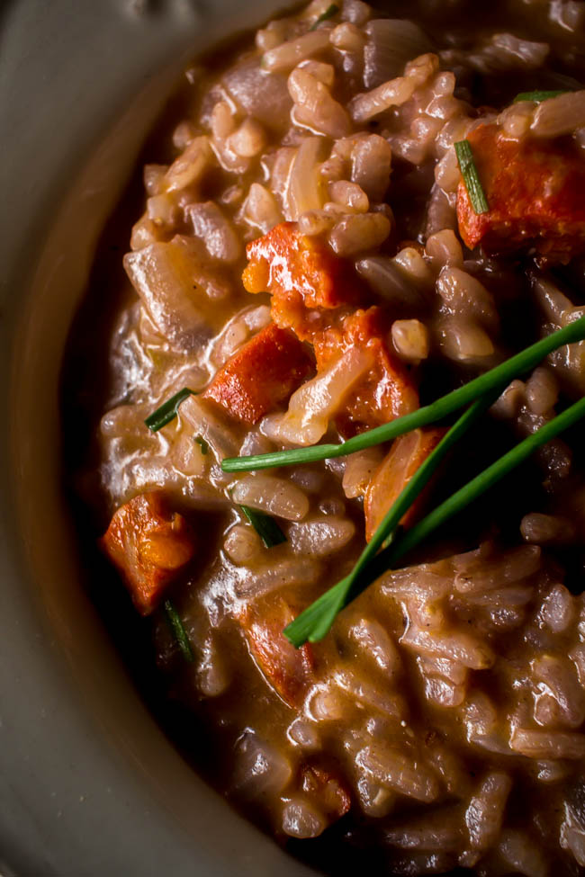 red wine chorizo risotto 4