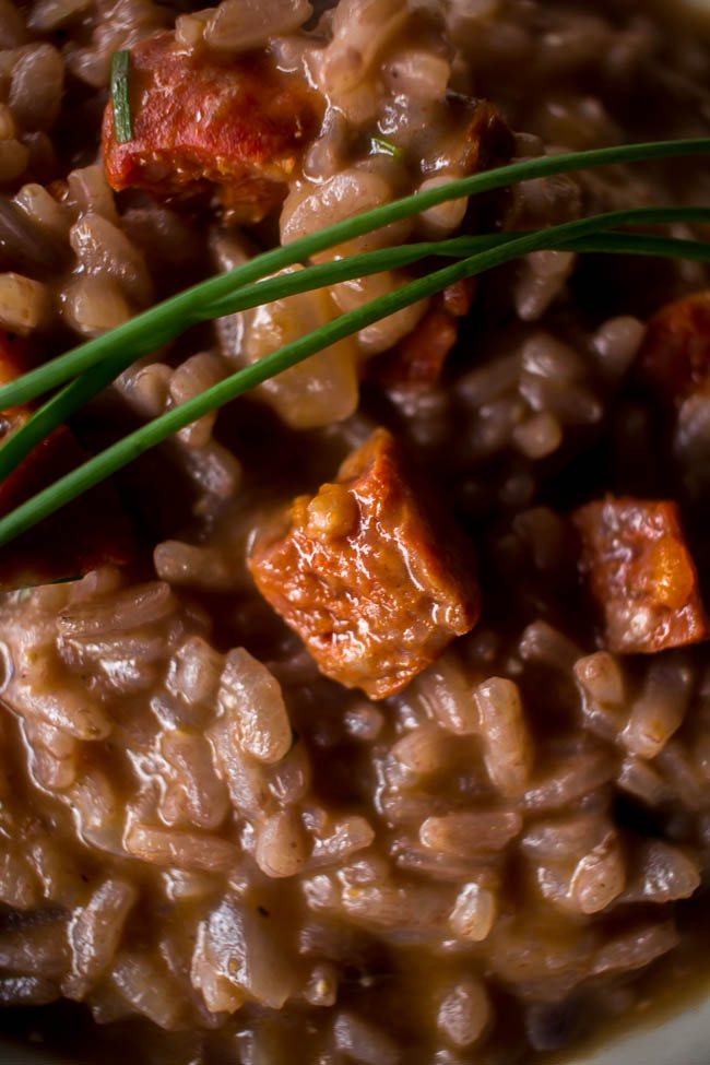 red wine chorizo risotto 5