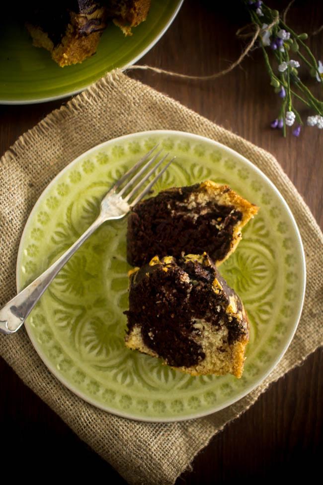lenten marbled cake 6