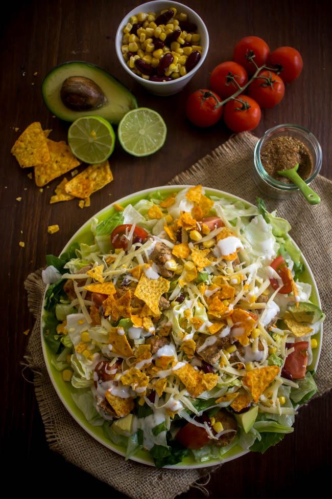 chicken taco salad 1