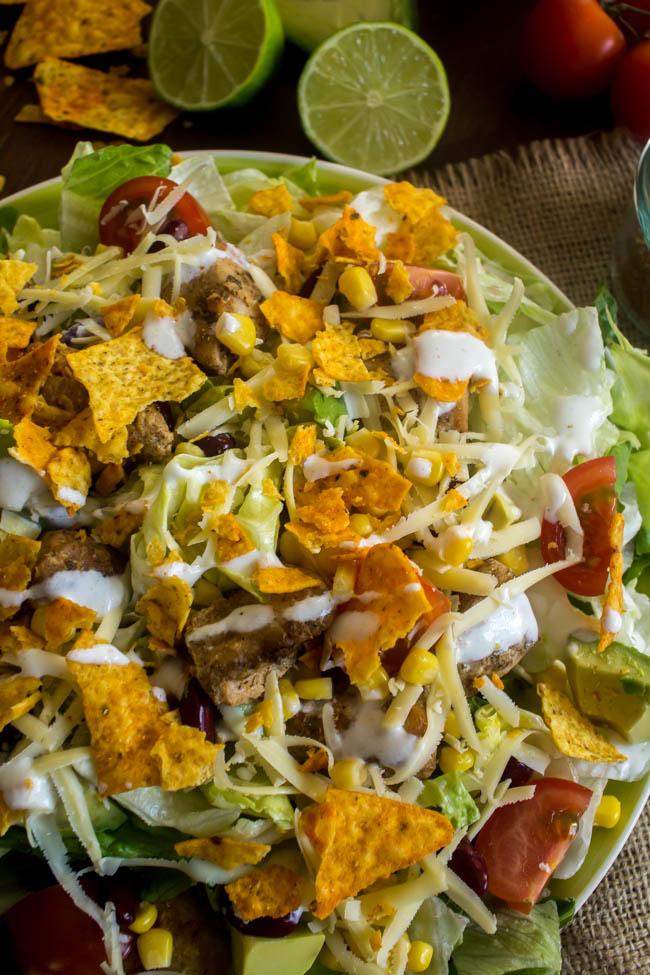 chicken taco salad 2
