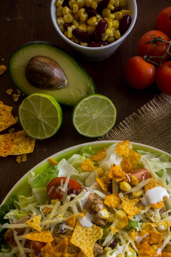 chicken taco salad 3