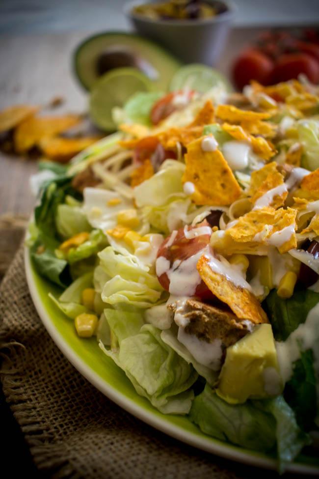 chicken taco salad 5