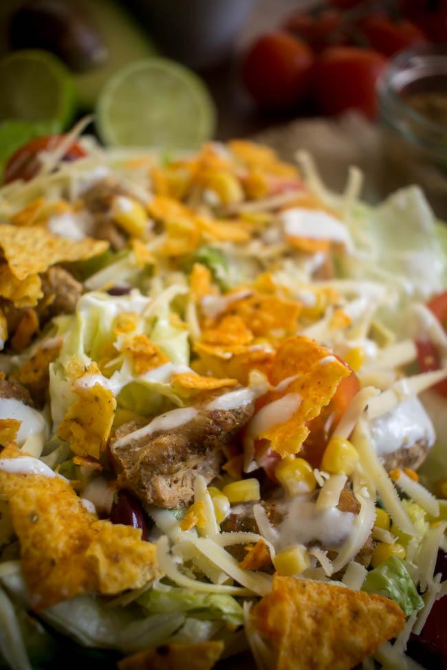 chicken taco salad 6