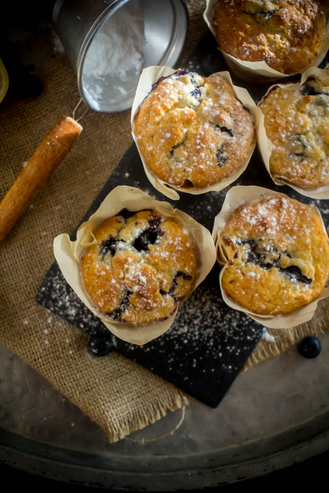 lemon blueberry muffins 2