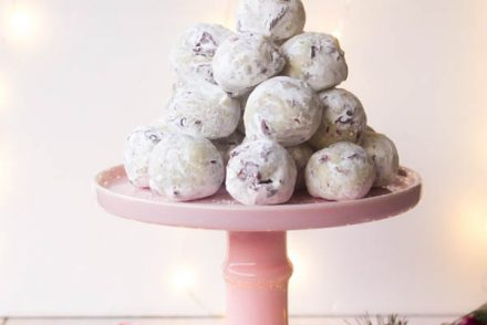 white chocolate cranberry pistachio truffles 1