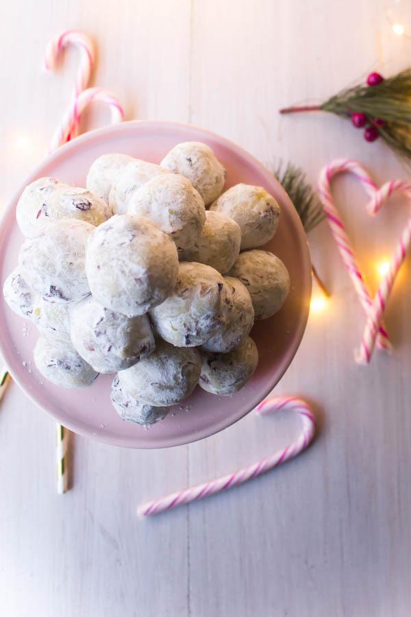 white chocolate cranberry pistachio truffles 4