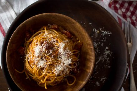 spaghetti all' amatriciana 1