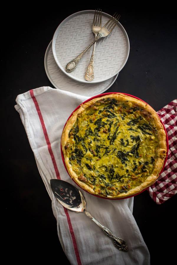 spinach artichoke quiche 1