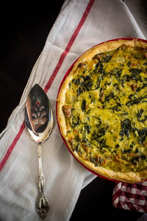 spinach artichoke quiche 2