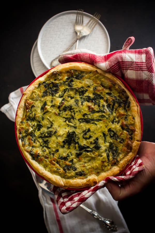 spinach artichoke quiche 3