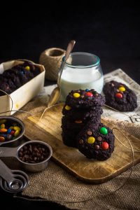 chocolate m&m cookies 2