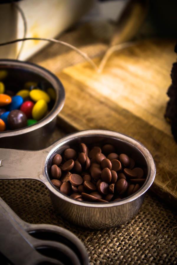 chocolate m&m cookies 6