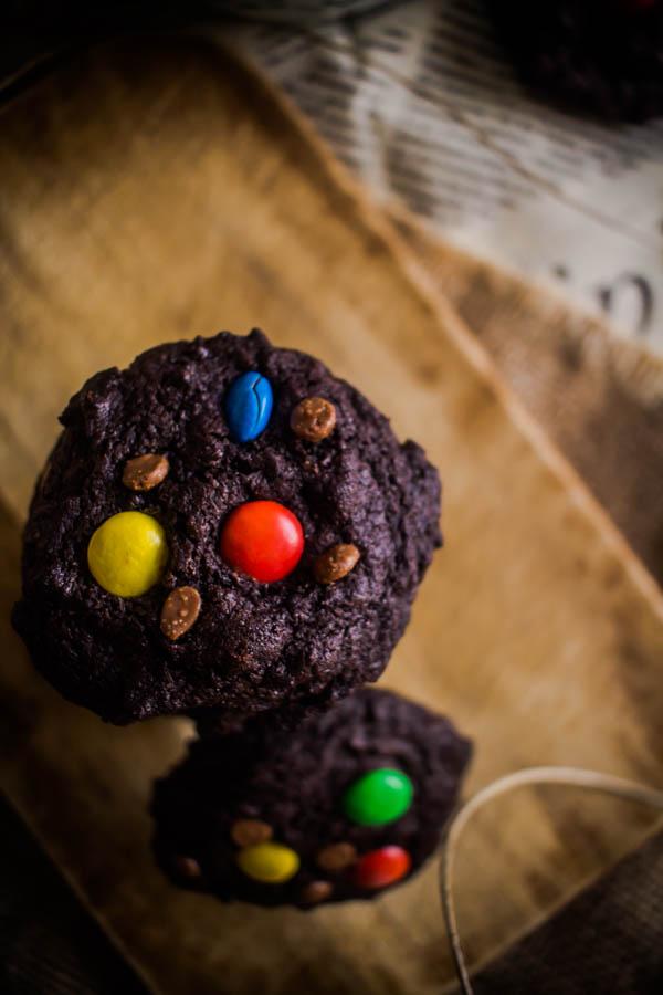 chocolate m&m cookies 8