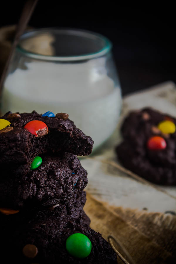 chocolate m&m cookies 9