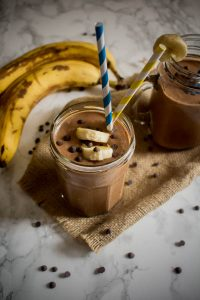 peanut butter banana chocolate milkshake 1