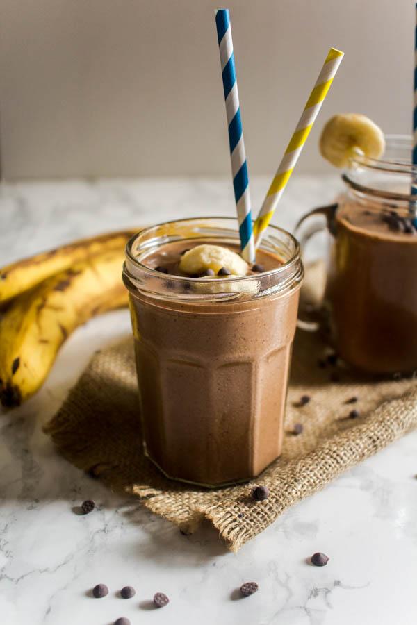 peanut butter banana chocolate milkshake 2