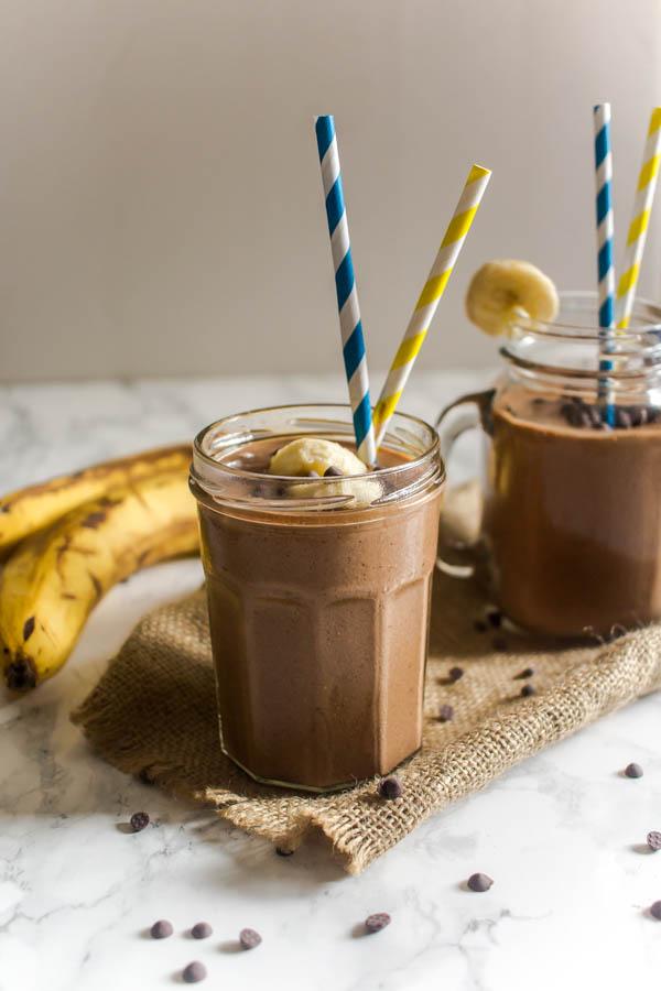 peanut butter banana chocolate milkshake 6