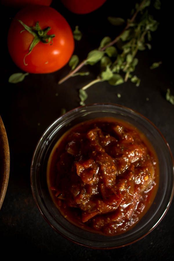 stuffed meatballs & tomato chutney 6