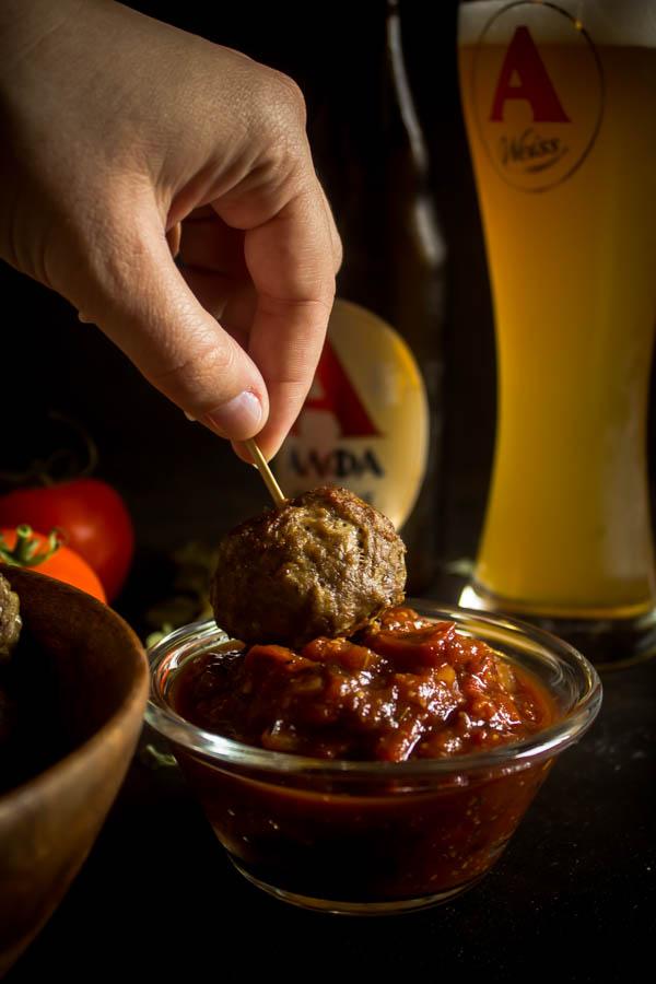 stuffed meatballs & tomato chutney 9