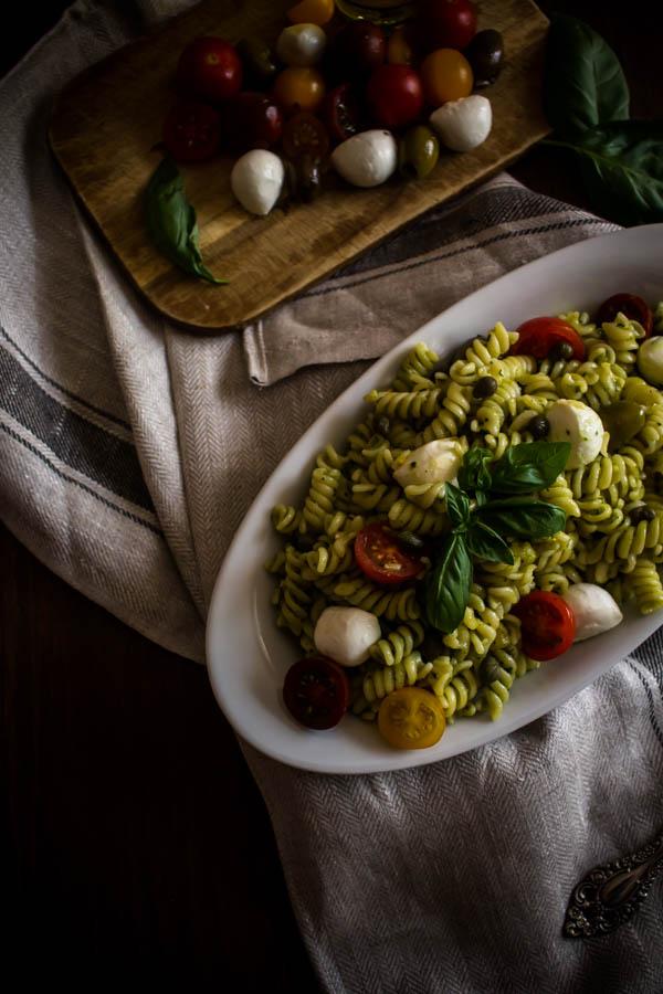 mediterranean pesto pasta salad 2