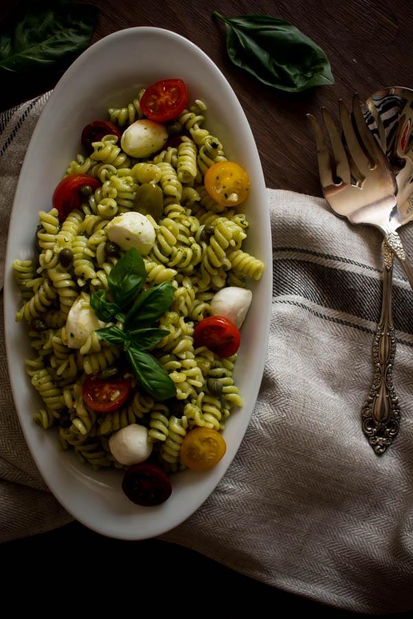 mediterranean pesto pasta salad 3