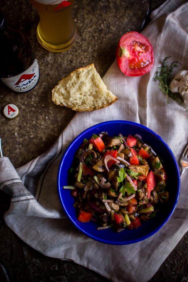 mushroom eggplant salad 1