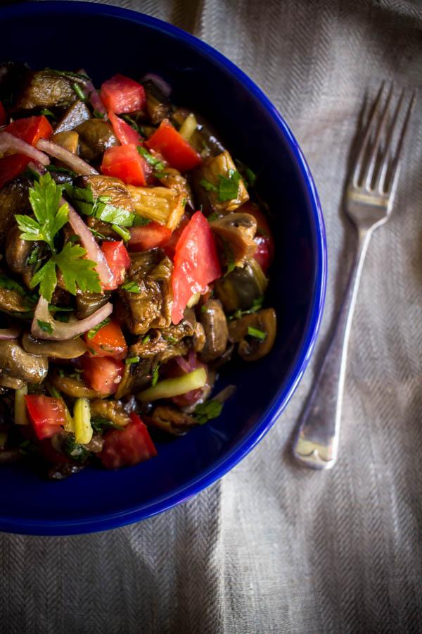 mushroom eggplant salad 4