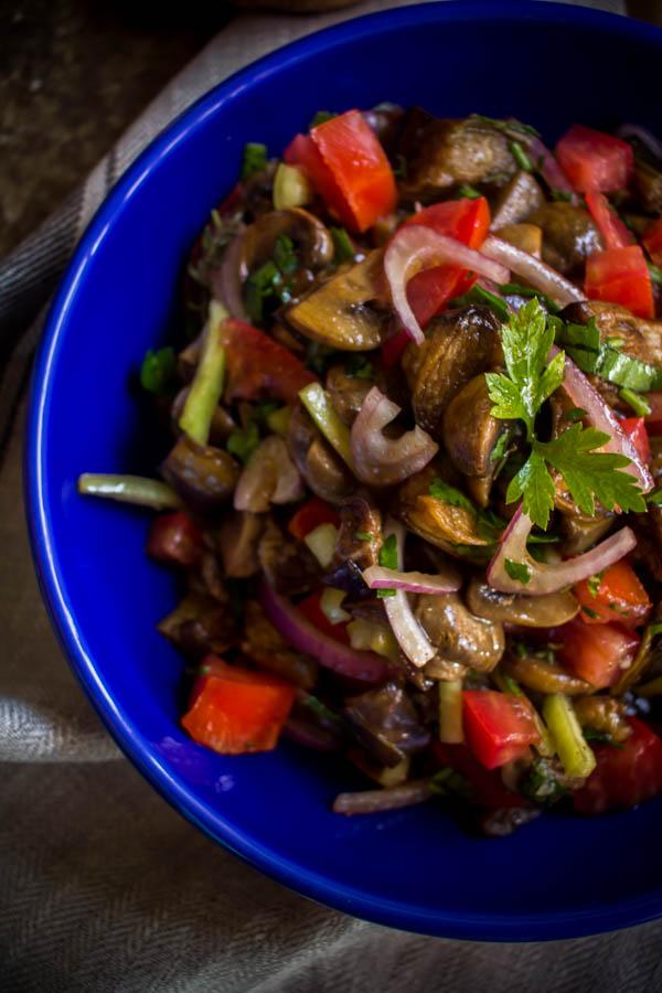 mushroom eggplant salad 5