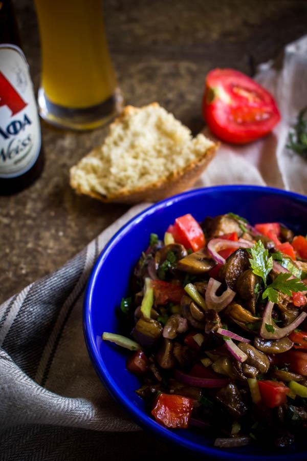 mushroom eggplant salad 6