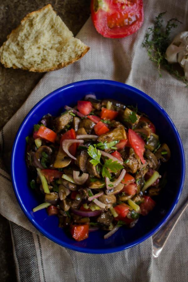 mushroom eggplant salad 7