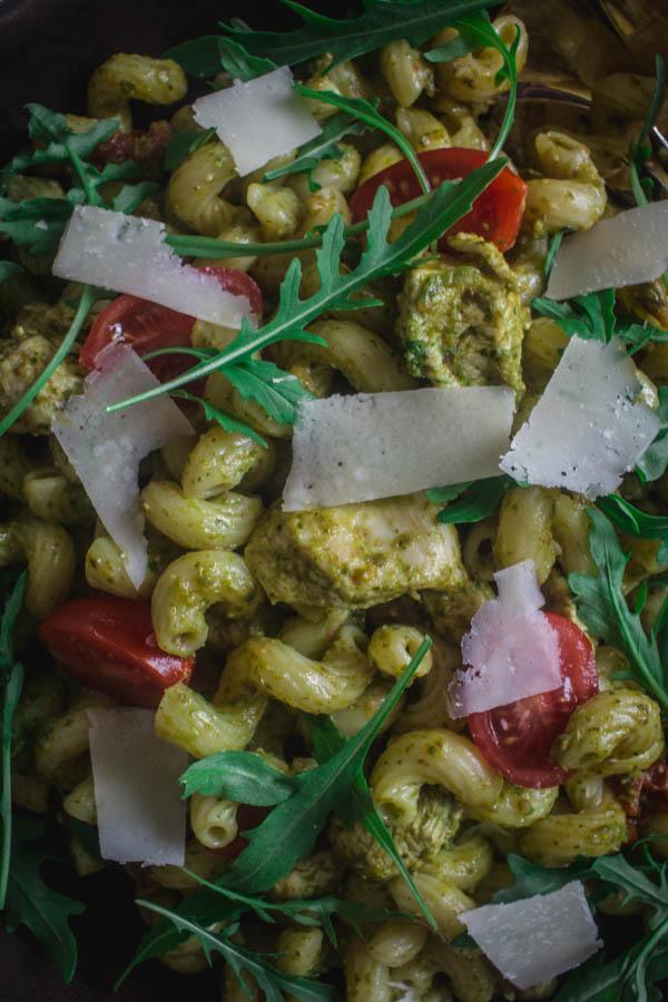 arugula pesto chicken pasta 4 (1 of 1)