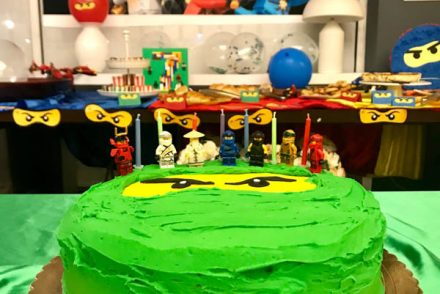 lego ninjago party cake