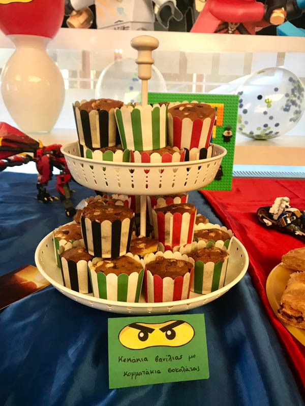 lego ninjago party food muffins