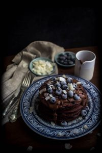chocolate oat pancakes 1