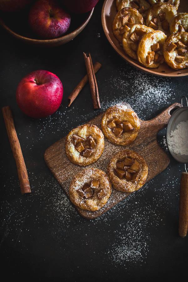 mini puff pastry apple pies 3